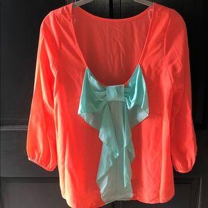 Women's boutique bow shirt